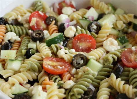 pasta salad with rotini feta and vegetable rotini salad the girl who ate everything