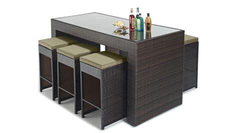 table chaise jardin 2838 set d ext 233 rieur design 6 tabourets table haute dayton