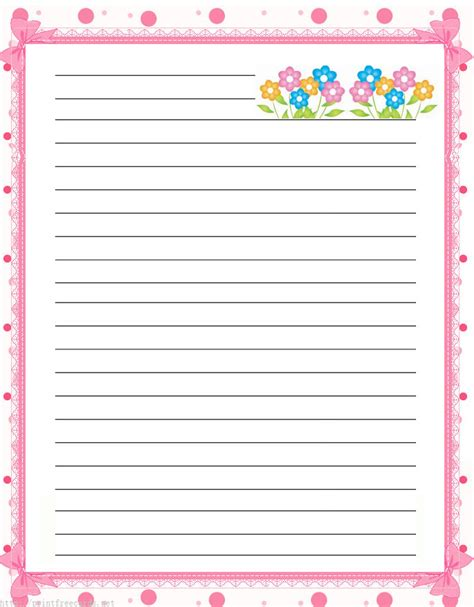 printable notepad writing paper printable notebook paper kiddo shelter notebook paper