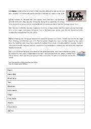 coldplay biography in english english worksheets coldplay and other artists fact files