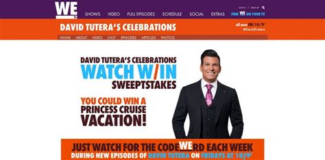 Watch And Win Sweepstakes - wetv david tutera celebrations watch and win sweepstakes