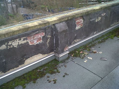 parapet wall cracked unstable parapet walls repaired and secured helifix