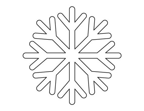Easy Snowflake Outline by Simple Snowflake Snowflakes And Snowflake Pattern On