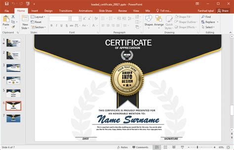 Animated Certificate Powerpoint Template Powerpoint Make Template