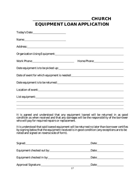 Loan Agreement Between Friends Template Free policy and procedure manual church sample