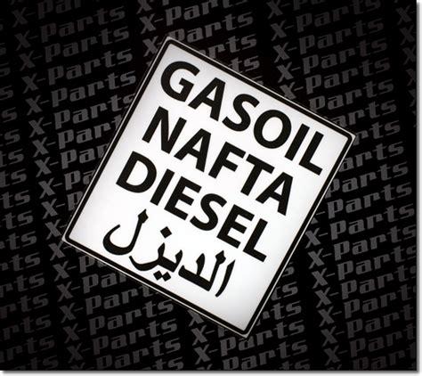 Aufkleber Auto Diesel by Gasoil Nafta Diesel X Parts Auto Aufkleber