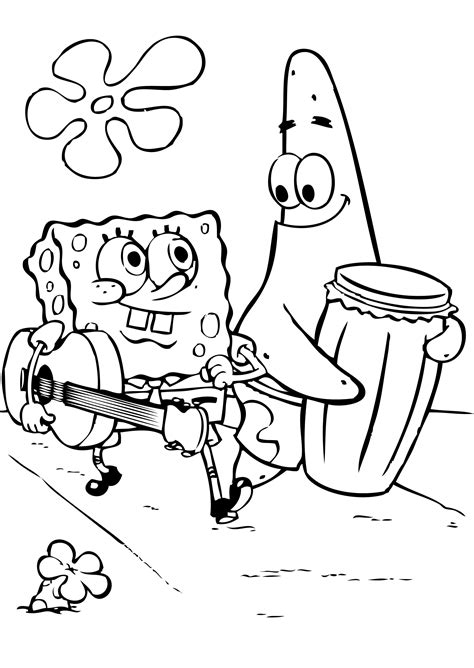 spongebob coloring spongebob coloring pages free coloring pages for free