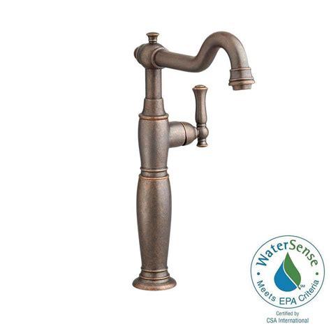 single hole bathroom faucet oil rubbed bronze american standard quentin single hole single handle vessel
