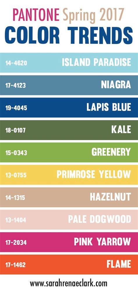 pantone colors 2017 spring 30 color palettes inspired by the pantone spring 2017