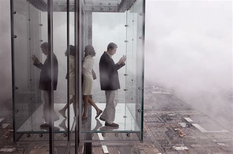 How Many Floors Is The Willis Tower by Part Of Willis Tower S Quot Ledge Quot Cracks Visitors