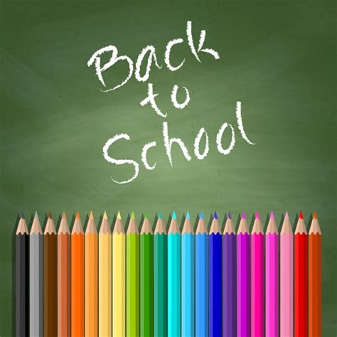 back to school background back to school background with chalkboard and coloured