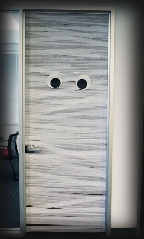 Mummy Door by Mummy Door Spooky Door Wrapped Up As Mummy By