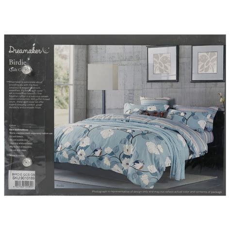Bed Cover Set Size Birdie birdie printed cotton quilt cover set temple