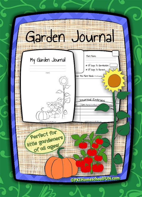 Garden Journal Free Printable Gardening Journal For Kid Garden