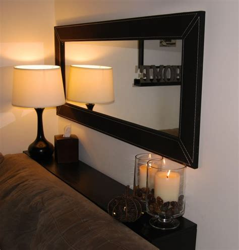 over sofa mirror horizontal mirror above couch with diy shelf behind sofa