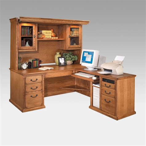 Furniture Best Mainstays L Shaped Desk With Hutch For Home Best Home Office Furniture
