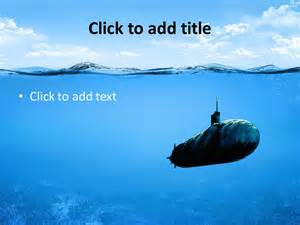 at sea templates underwater powerpoint template slidesbase