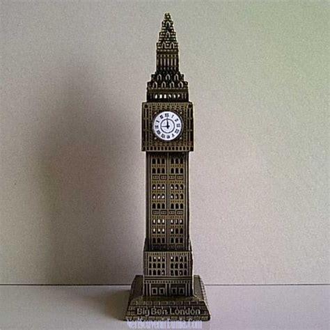 jual souvenir miniatur jam big ben coklat
