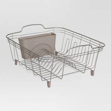 in sink dish rack target bronze dish drainer rack target