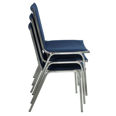Stack Chair global used armless stack chair denim blue national office interiors and liquidators