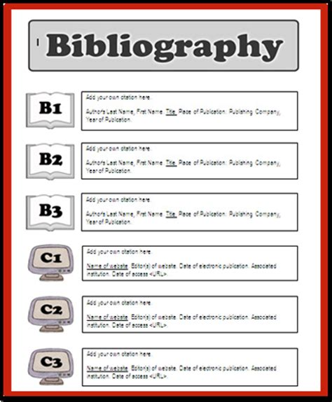 bibliography template bibliography for search results calendar 2015