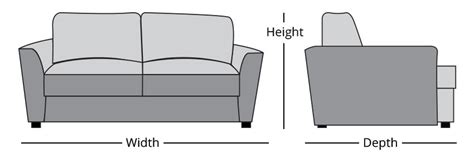 how to measure sofa measuring guide belfort furniture washington dc
