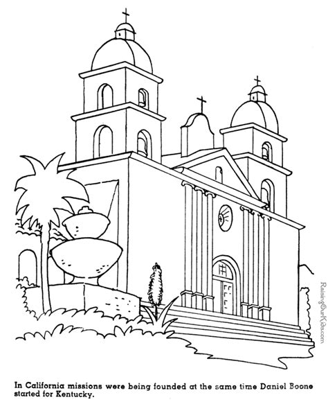 Spanish Mission Coloring Page Us History Unit 4 Growth Us History Coloring Pages