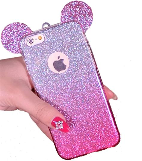 iphone se iphone     bling mouse ear case rhinestone phone cases  iphone