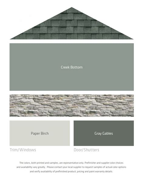 colors with gray fresh color palettes for a gray or black roof