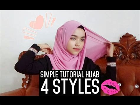 simple hijab tutorial youtube tutorial hijab simple 4 styles youtube