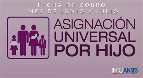 fecha de cobro de asignasion universal fechas de cobro asignacion universal por hijo mes de junio
