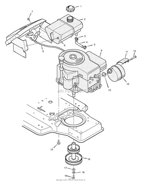 diagram of a lawn mower engine murray 38602x70j lawn tractor 1996 parts diagram for