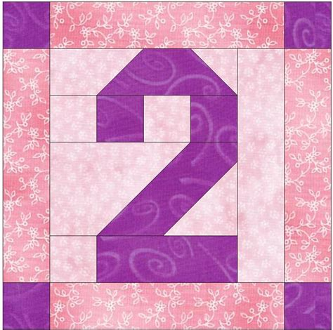 quilt pattern numbers best photos of pattern number 2 pink number 2 block