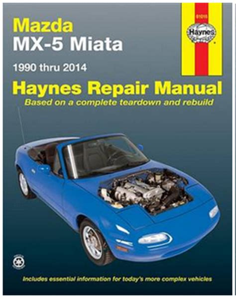 mazda mx 5 miata haynes repair manual 1990 2014