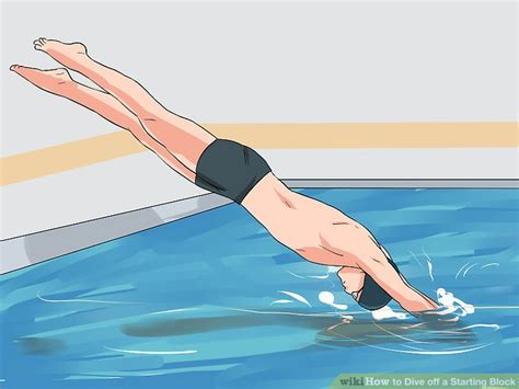 how to dive how to dive a starting block with pictures wikihow