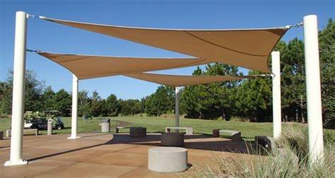 Triangular Patio Awnings Project Showcase Outdoor Area Shines Under Shade Sails