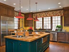 colorful kitchen islands 30 colorful kitchen design ideas from hgtv kitchen ideas