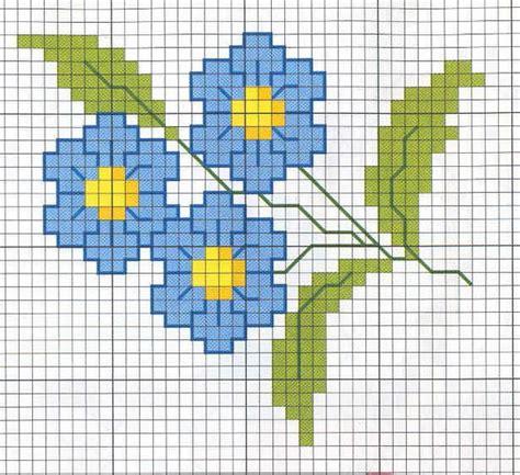 schemi punto croce fiori fiorellino 064 schema da ricamare a puntocroce