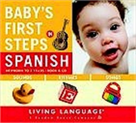 children s foreign language review baby s first steps in spanish book cd