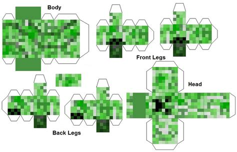 Print Out Minecraft Papercraft - minecraft papercraft creeper print out minecraft