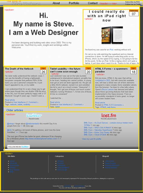 layout blog html5 html5 steve workman page 4