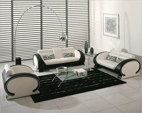 white and black sofa set white and black bonded leather sofa set 44l2811