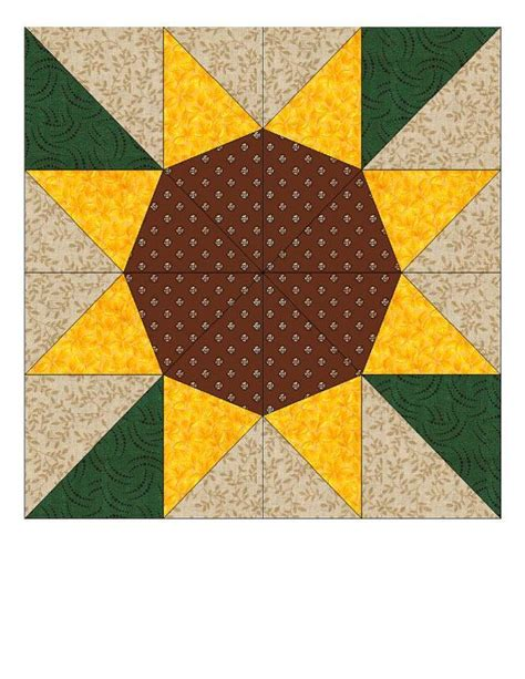 paper pattern blocks sunflower paper pieced quilt block pattern pdf