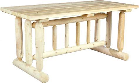 cottage cedar log dining table 15110 fireside lodge cedar log dining table pcdt01 best free home design