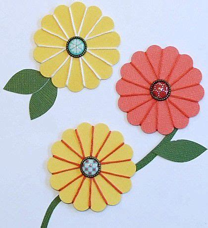 How To Make Paper Flowers For Scrapbooking - how to make flowers for scrapbooking and cards