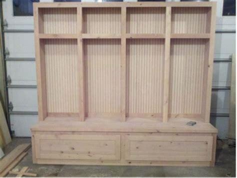 mudroom bench woodworking plans diy storage bench