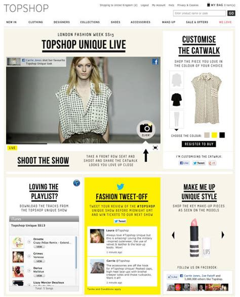 Topshop Creates A Social Catwalk For London Fashion Week an example of using social media in fashion to create a