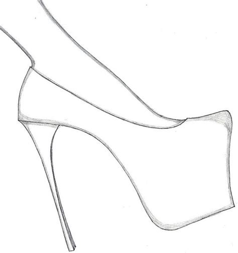 template for high heel shoe design your shoes with these free high heel