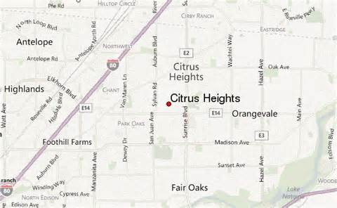 citrus heights california map citrus heights location guide