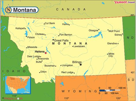 montana map with cities what states border montana clarks fork yellowstone river